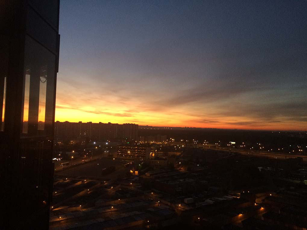 Рассвет в Переделкино Ближнее