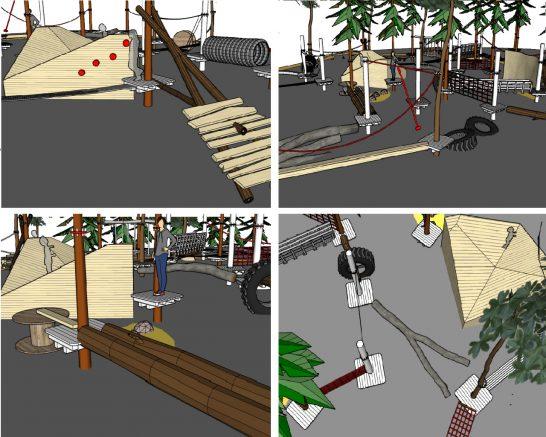 Детская площадка в парке Рассказовка