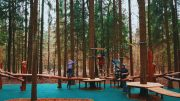Веревочная площадка парк рассказовка